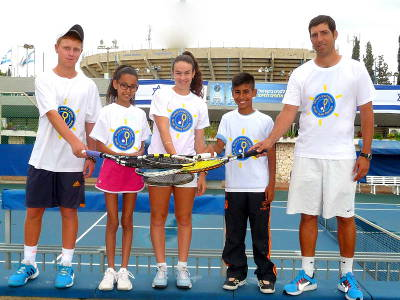 Tennis Ambassadors from the Israel Tennis Center Foundation