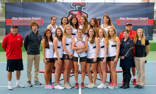 CSUN women tennis and Gary Victor
