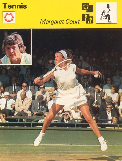 Margaret Court Collectors Card