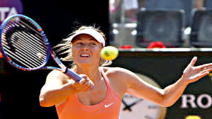 Maria Sharapova at the Italian Open